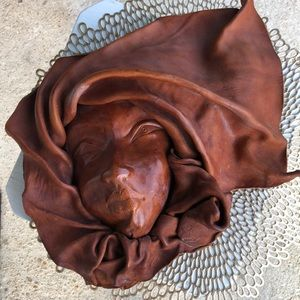 ❤️ Cognac Genuine Leather Mask Made in Chile